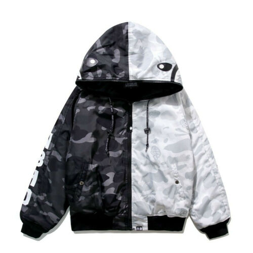 Bape A Bathing Ape Monkey Head Camo Full Zip Hoodies Sweatshirt Hooded Jacket