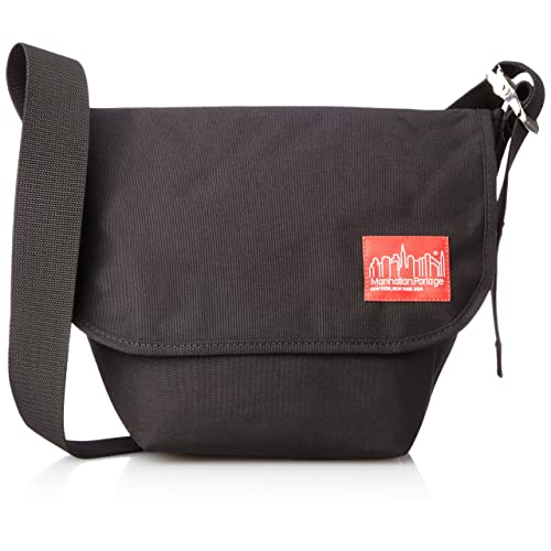 Black SM Manhattan Portage Downtown Vintage Messenger Bag